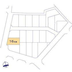 区画図(本物件は16号棟です)