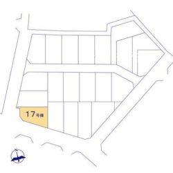 区画図(本物件は17号棟です)