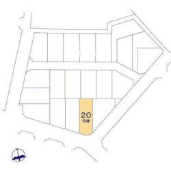 区画図(本物件は20号棟です)