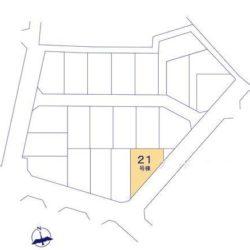 区画図(本物件は21号棟です)