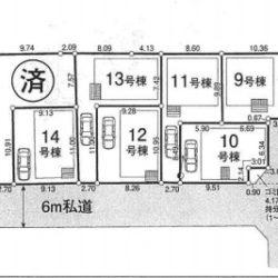 区画図(本物件は19号棟です)