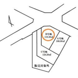区画図(本物件はB号地です)