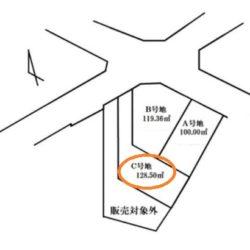 区画図(本物件はC号地です)