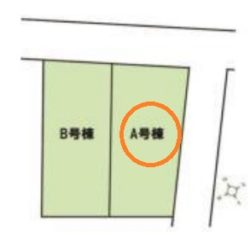 区画図(本物件はA号棟です)