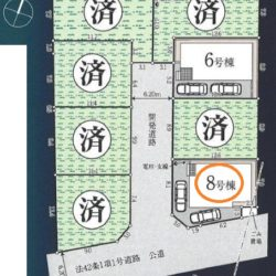 区画図(本物件は8号棟です)