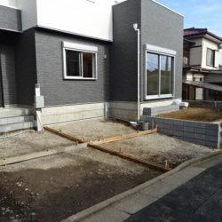 駐車スペース(3月4日撮影時点)